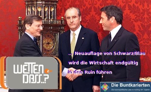 Neuaflage Schwarz Blau Ruin Wirtschaft.
