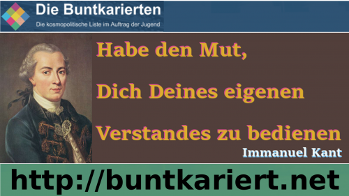 Immanuel Kant © Die Buntkarierten
